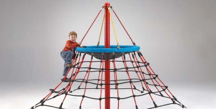 Dino Mini rope net pyramid